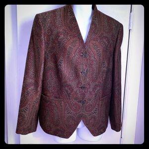 BROOKS BROTHERS Paisley Woven Wool Blazer-12